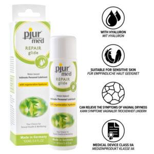 Køb kvaliteten glidecreme som Pjur med repair vandbaseret glidecreme hos sexolog Else O shop.