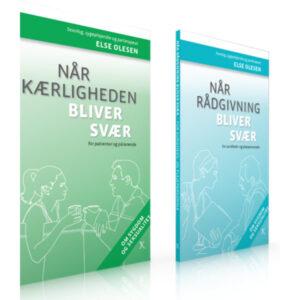 Sampak af bøger om sygdom og seksualitet af sexolog og sygeplejerske Else O.